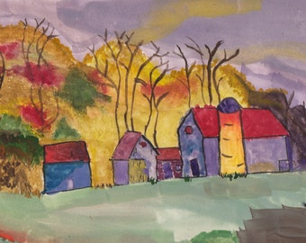 Autumn Farm set of 4 cards