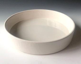 Ikebana Flower Vase, Japanese Round Ceramic Suiban