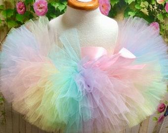 d768a84594bf Pastel Rainbow Tutu, Pastel Unicorn Tutu, Pastel Tutu, Rainbow Skirt, Baby  Pastel Tutu, Baby Tutu, Newborn Tutu, Toddler Tutu, Sewn Tutu