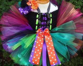 HEADBAND NOT INCLUDED | Halloween Costume, Witch Dress, Witch Tutu Dress, Baby Costume, Witch Costume, Witch Outfit, Toddler Costume, Tutu