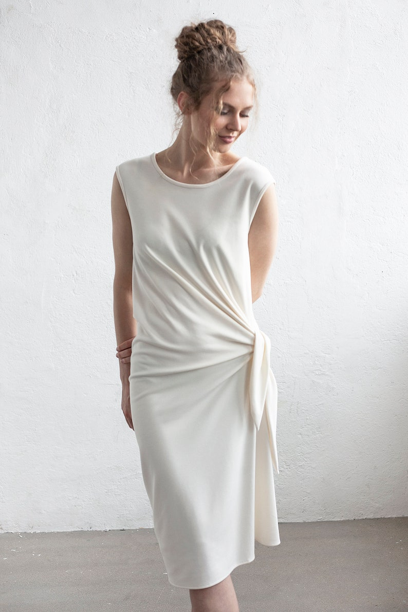 3eb4f816a9 Casual Wedding dress White Airy dress Minimalist Spring