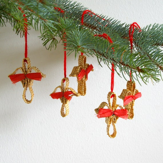 Swedish Christmas Decorations.Vintage Swedish Christmas Straw Ornaments Set Of 5 Tree Ornament Swedish Christmas Holiday Decor Old Decorations Table Place Setting