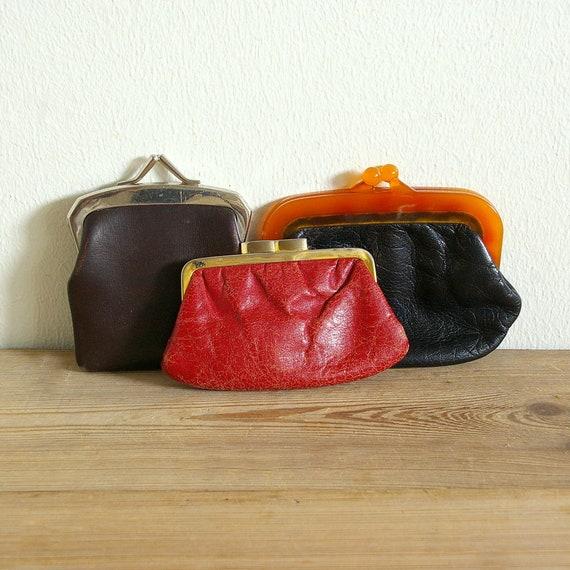 Love Coin Purses Vintage Pouch Kiss-lock Change Purse Wallets