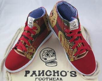 Pancho es handgefertigte Inka rot High Top Sneaker 1727bd576b