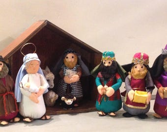 Nativity, handmade nativity scene, cute nativity.