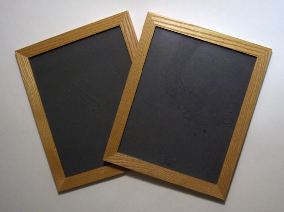 Two 2 Wooden Oak Picture Frames With Glass 8 X 10 Etsy