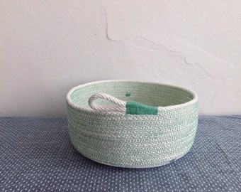 Shallow Bucket Bowl - Cotton Rope Bowl