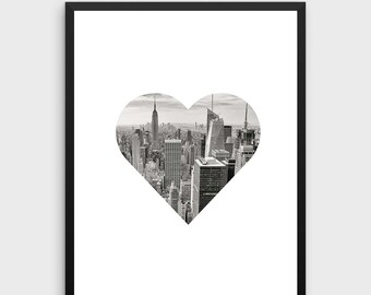 New York Print | New York Skyline Art, Cityscape, New York Photography, Photography Wall Prints, Black and White Photography, Artwork
