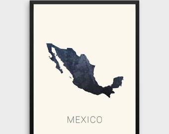 Mexico map | Etsy