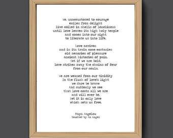 Derek Walcott Print Love After Love Love Poem Print Poem Etsy