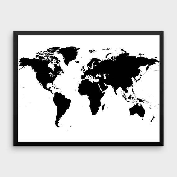 weltkarte wandkunst gro e weltkarte world map poster etsy. Black Bedroom Furniture Sets. Home Design Ideas