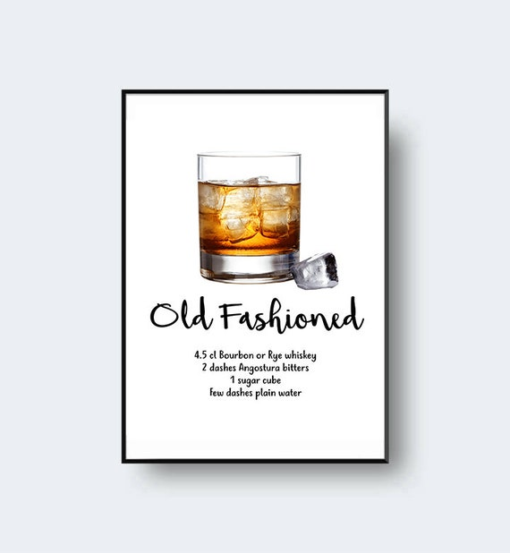 Old Fashioned Print Call Me Old Fashioned Cocktail Print Etsy