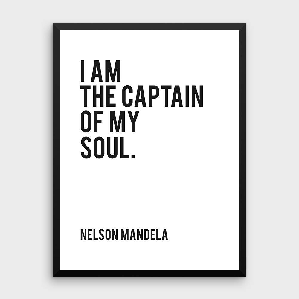 Literature Poster Nelson Mandela I Am The Captain Of My Etsy