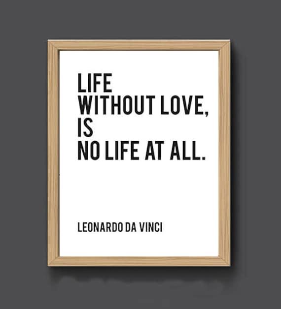 Leonardo Da Vinci Quote Print Da Vinci Art Love Poem Etsy