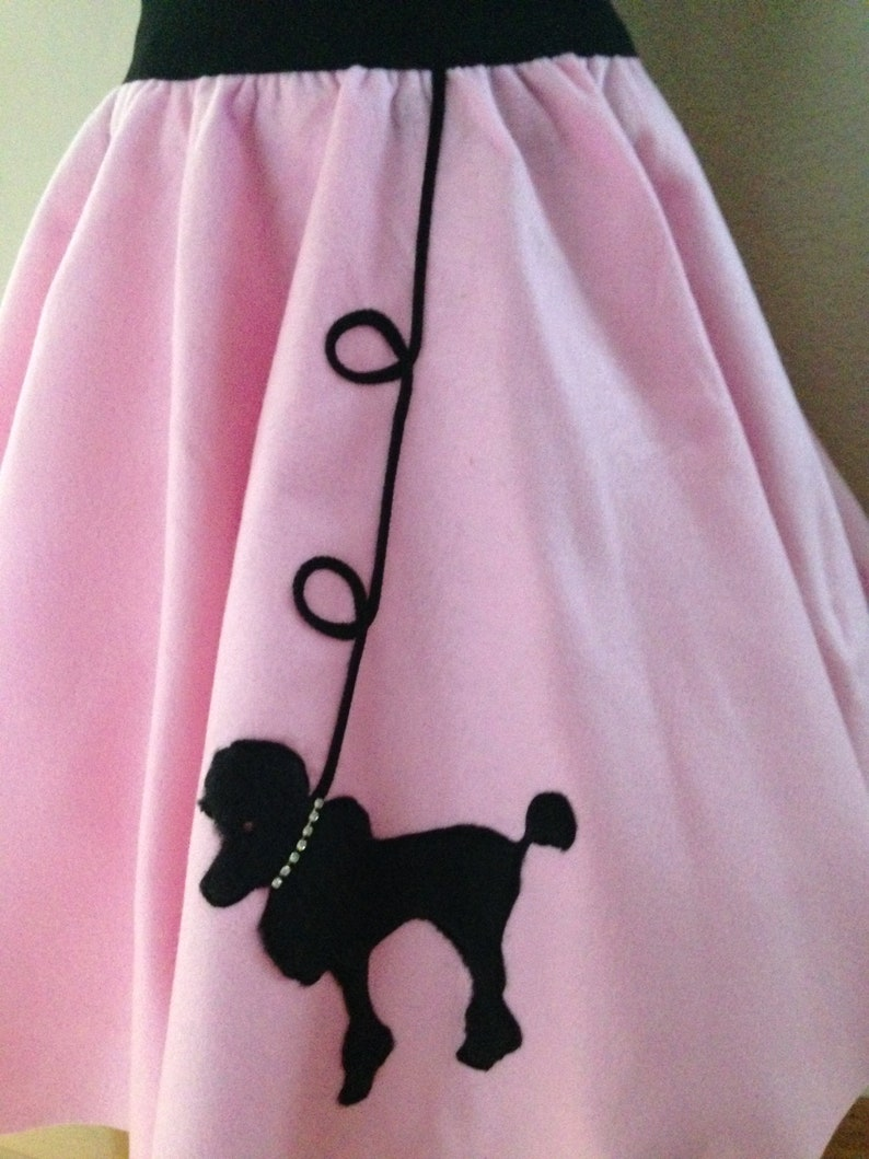 Girls 50/'s Poodle Skirt /& Scarf 2 Pc Set