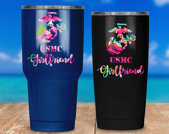 USMC Girlfriend Patterned Decal | Laptop Stickers | Car Decal | Custom Yeti Cup | Vinyl Marine Sticker | Military - By JG Squared Creations