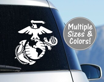 Marine Decal Car Decal, USMC Decal, Military Car Decal, Yeti Decal for Tumbler, Marine Corps Decal, Military Gifts Marine Laptop Decal