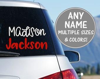 Name Decal for Car Name Vinyl Decal Car Vinyl Decal Name Vinyl Name Decal Stickers Custom Name Decal Glitter Name Decal Personalized Sticker