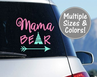 Mama Bear Car Decal Stickers for Car Decals for Moms Mom Sticker for Car Mama Bear Decal for Car Mama Bear Decal, Bear Decal Mom Decal