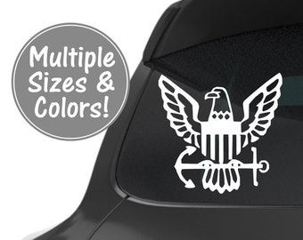 Navy Decal Car Decal, US Navy Decal, Navy Tumbler Decal, Navy Laptop Decal, Military Car Decal, Navy Military Gifts, Military Navy Gift
