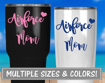 Air Force Mom Yeti Decal, Air Force Decal for Car Air Force Car Decal, Air Force Mom Laptop Decal, Air Force for Moms, US Air Force Gifts