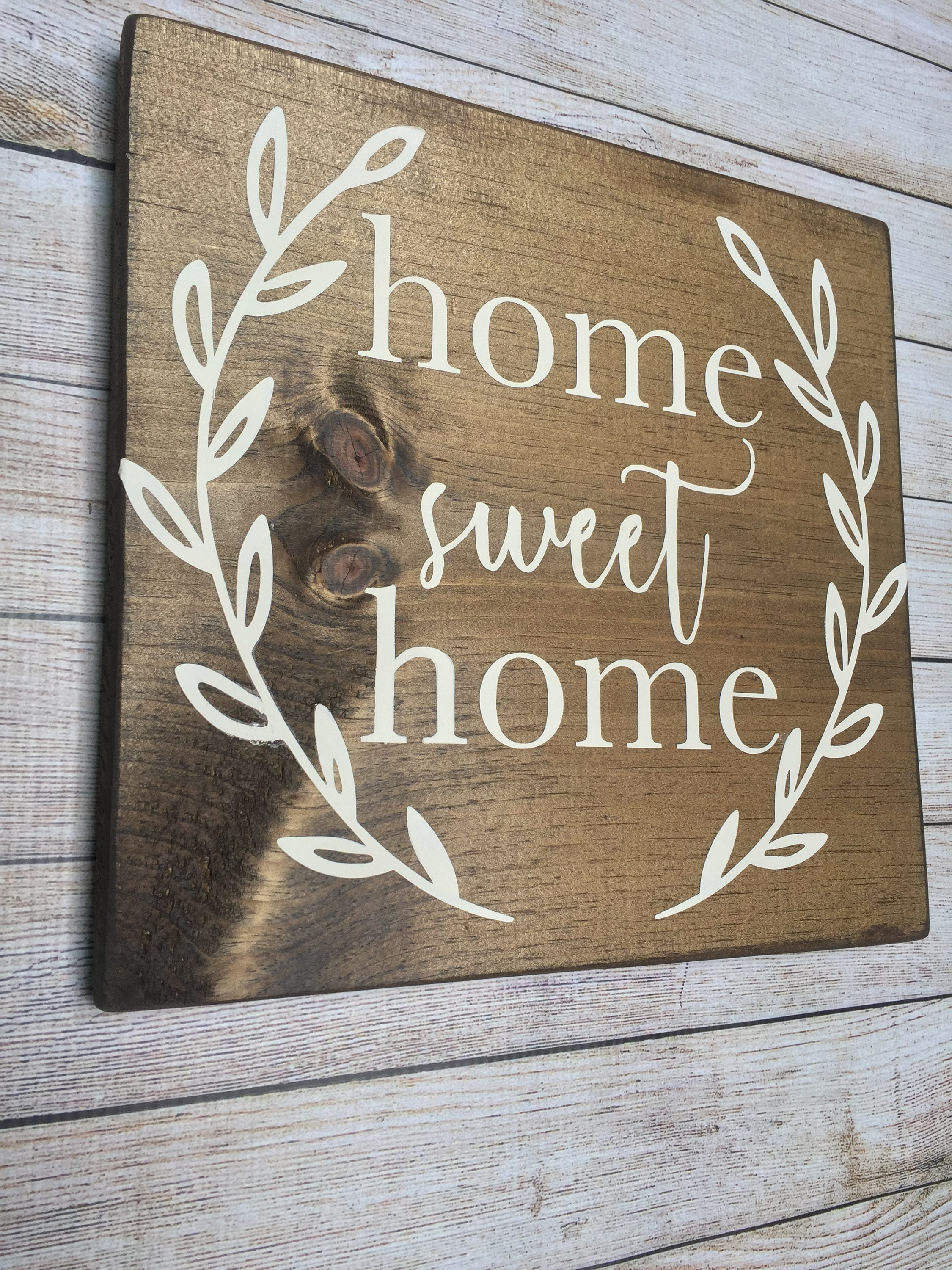 Home sweet home home sweet home sign rustic home sweet ...