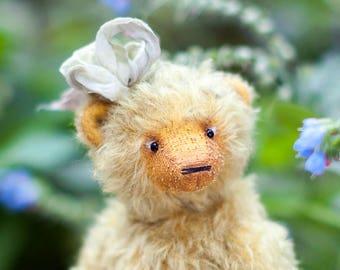 Kunstenaar teddybeer, mohair teddy bear, teddy bear OOAK Beer, Marusya