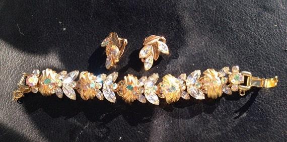 Juliana Rhinestone Bracelet and Earring Set