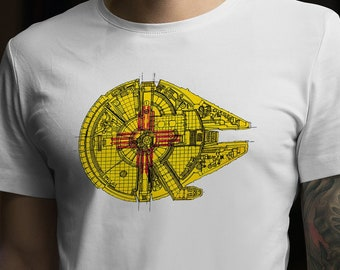2a66b8362b56 Star Wars Millennium Falcon New Mexico Flag T-Shirt