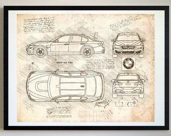 Car blueprint etsy bmw m3 f80 2014 da vinci sketch bmw artwork blueprint specs blueprint patent prints posters m3 decor art car art cars 413 malvernweather Gallery