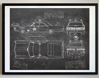 Police blueprint etsy buick wildcat mk2 police da vinci sketch buick artwork blueprint patent prints posters buick police vehicle art car art cars 369 malvernweather Choice Image