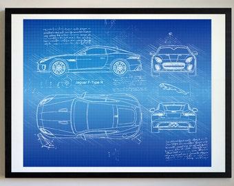 Jaguar Car Etsy
