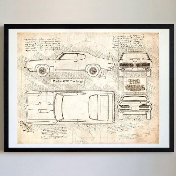 Pontiac gto the judge 1969 pontiac artwork blueprint specs malvernweather Gallery