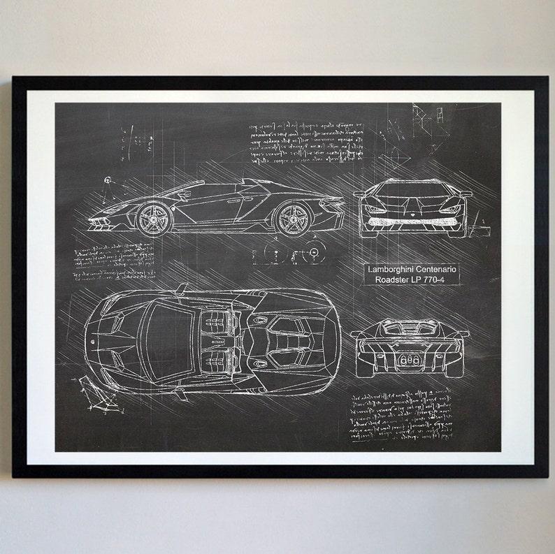 Lamborghini Centenario Roadster Lp 770 4 2017 Da Vinci Etsy