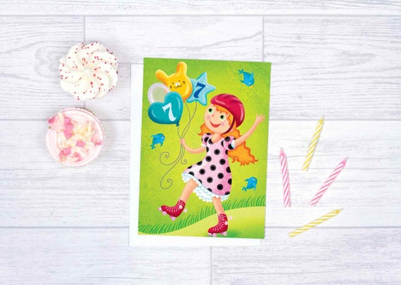 Birthday Card For Girl Green Anniversary Toddler