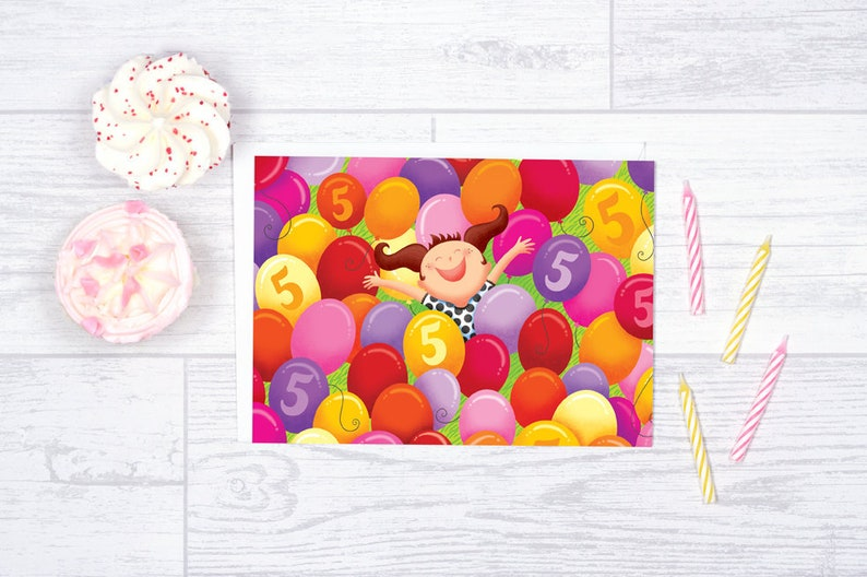 Birthday Card For 5 Years Old Girl Blank Anniversary