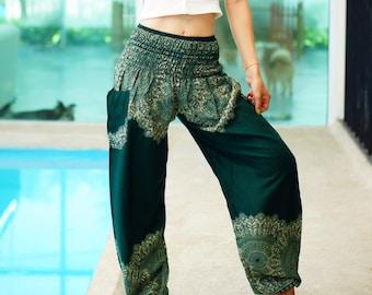Bohemian Pants /Harem Pants /Music Festival Clothing /Hippie Pants /Yoga Pants /Meditation Pants /Music Festival Clothing Green GZ02289