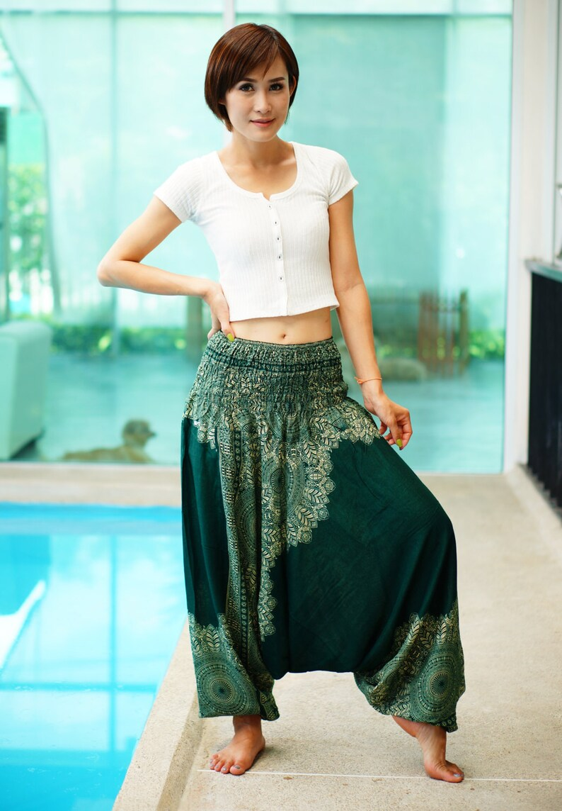 6ca4b62db5 Harem Pants Thai Pants Rayon Pants Boho Strenchy Pants   Etsy
