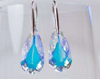 Crystal Teardrop Swarovski Crystal Earrings