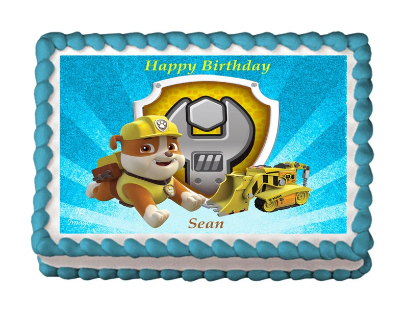 Rubble Cake Topper Paw Patrol Edible Images Icing