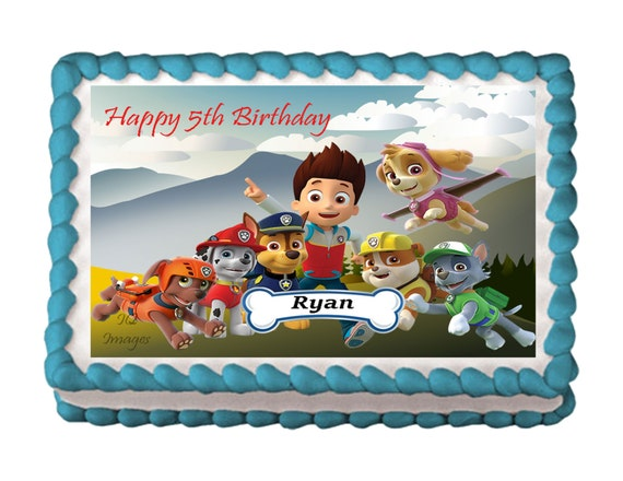 Paw Patrol Cake Topper Edible Images Icing