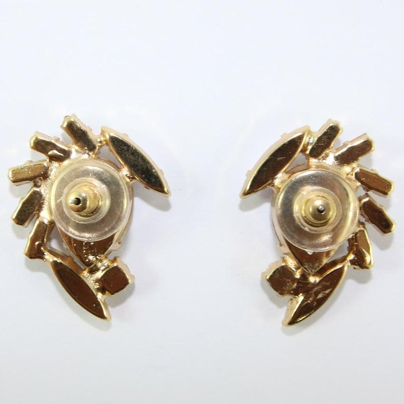 HQM Austrian Aurore Boreale /& Clear Crystal Multi Shape Earrings Clip-On