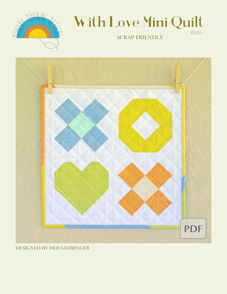 With Love Mini Quilt Pattern image 0