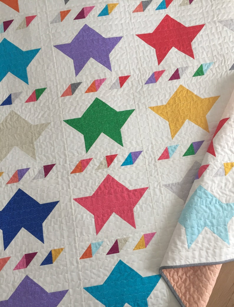 Twinkly Stars Quilt PDF Pattern image 0