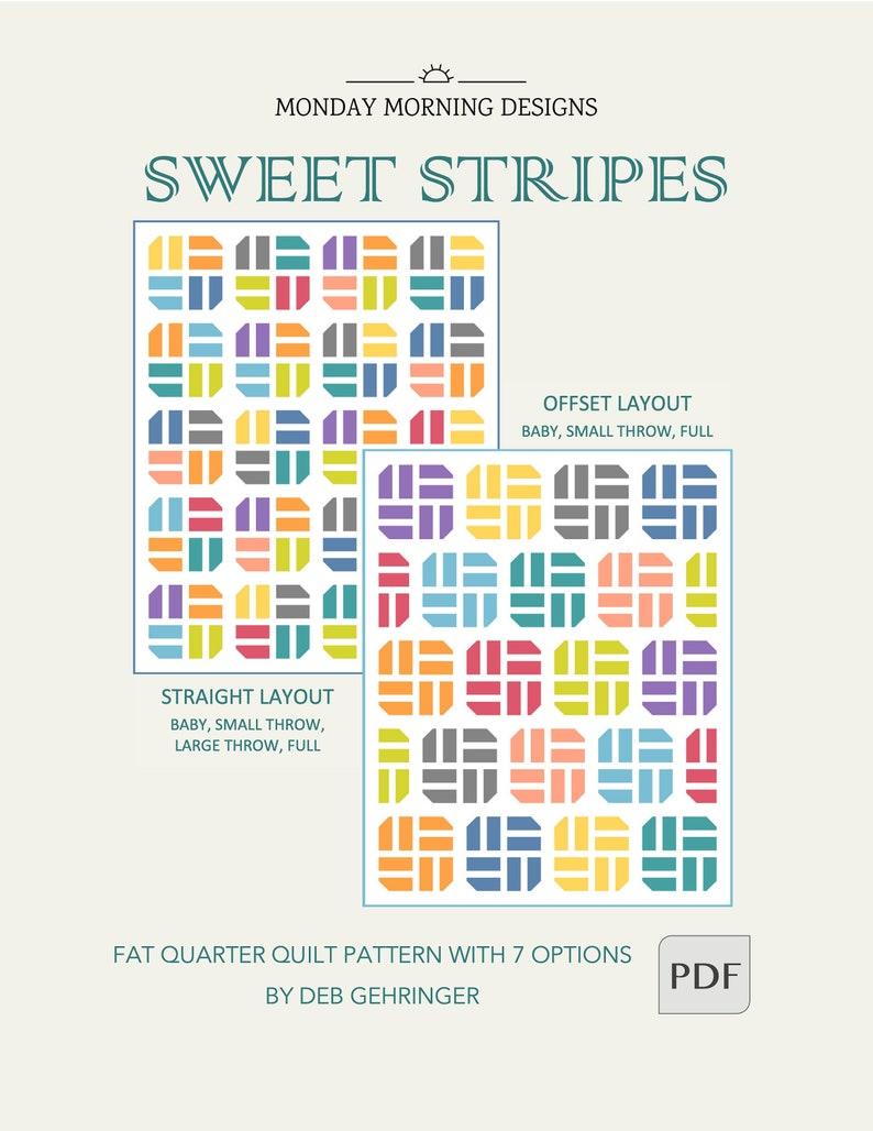 Sweet Stripes Quilt PDF Pattern image 1