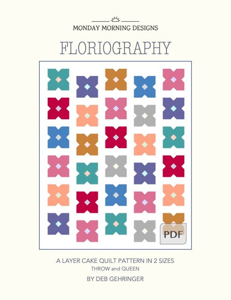 Floriography Quilt PDF Pattern image 0