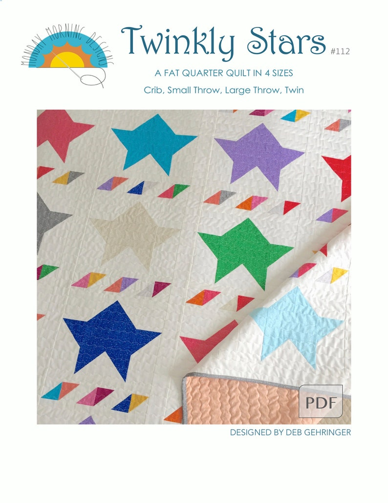 Twinkly Stars Quilt Pattern image 0