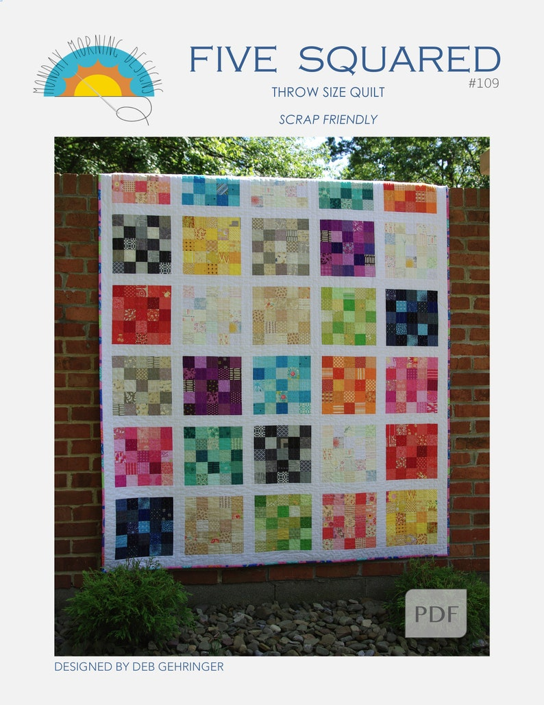 Five Squared Quilt Pattern image 0
