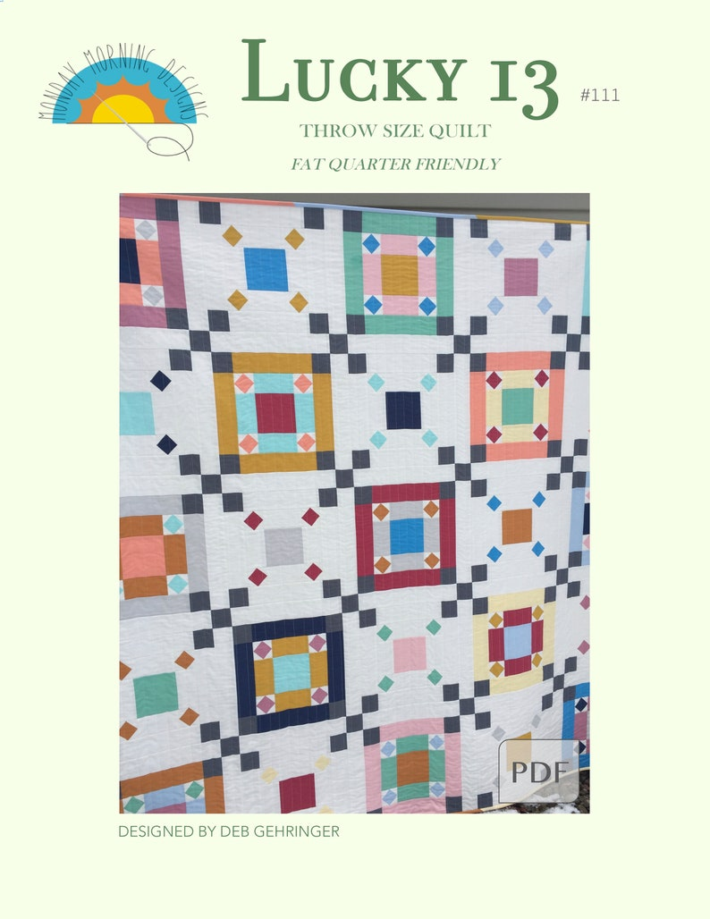 Lucky 13 Quilt Pattern image 0