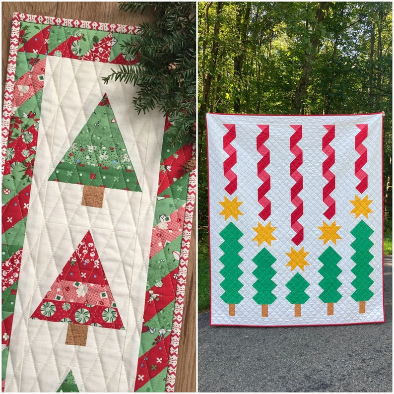 HOLIDAY BUNDLE  Wee Three Trees Mini Quilt and Holiday image 1